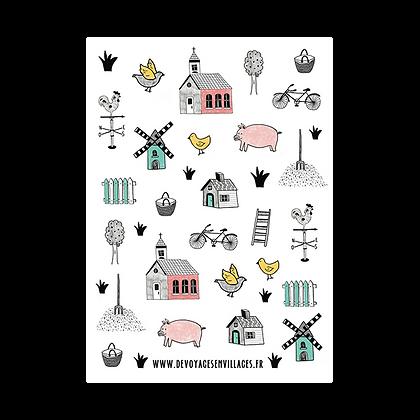 "Carte postale ""Joyeux village"""