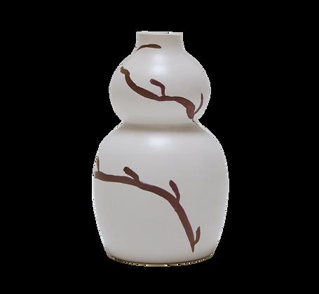 Vase ballon à branche doré mat