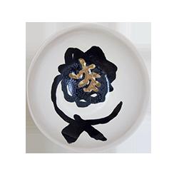 Coupe fleur noire