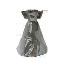 Robe Premier Bal gris nacré