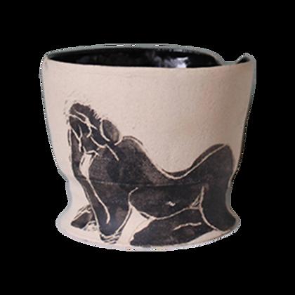 Vase avec dessin de femme