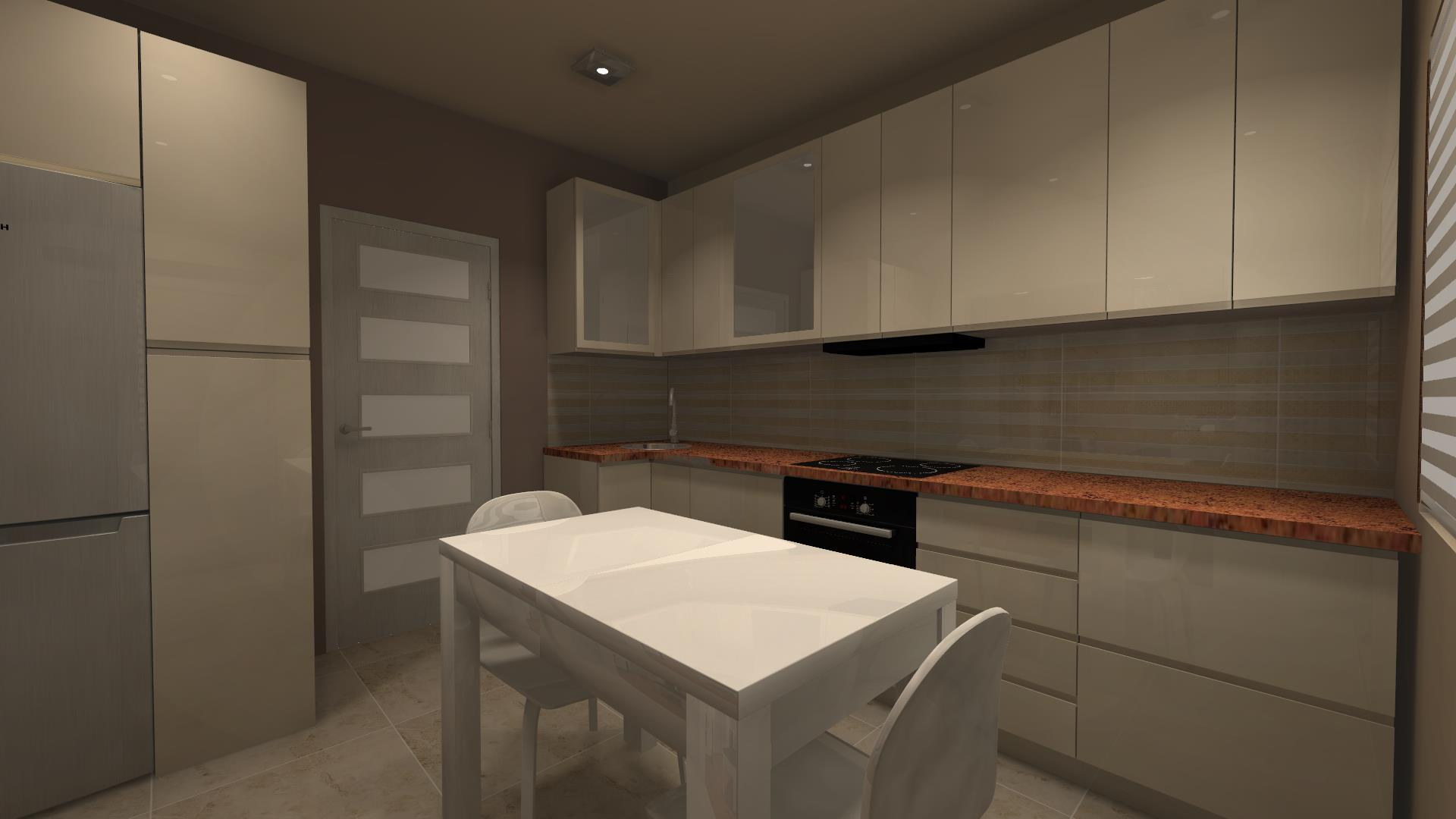 Pokój telewizyjny + kuchnia