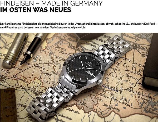 Findeisen Armbanduhren Magazin