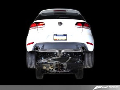 AWE Performance Catback Exhaust for Mk6 GTI - Diamond Black Round Tips