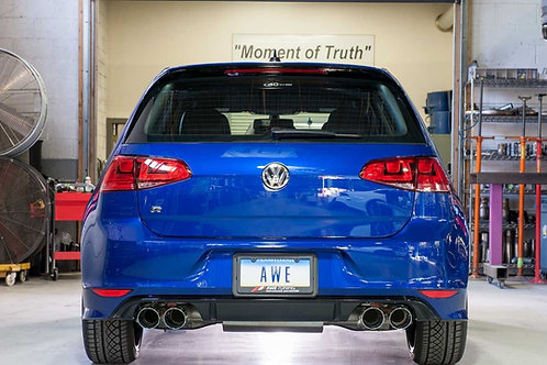 AWE Tuning Golf R Track Edition Exhaust with Diamond Black Tips, 102mm For Mk7