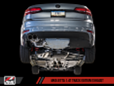 AWE Track Edition Exhaust For MK6 Jetta 1.4T - Diamond Black Tips
