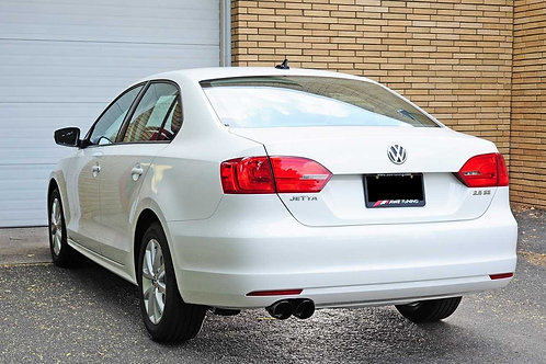 AWE Tuning Track Edition Exhaust - Diamond Black Tips For Mk6 Jetta 2.5L