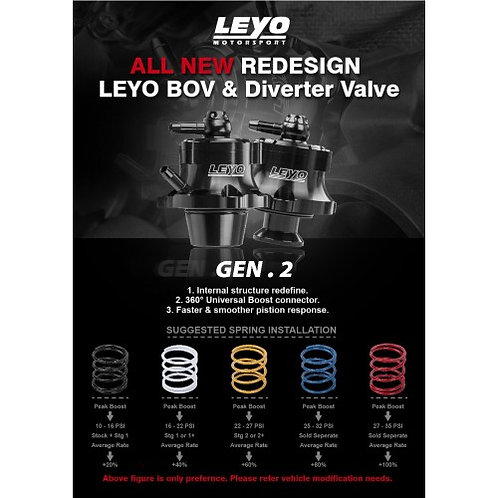 LEYO Motorsport - Diverter/ BOV Upgraded Spring kit