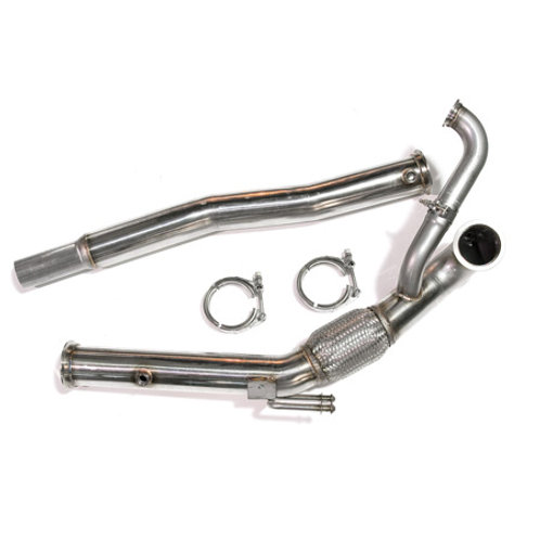 "Downpipe Assembly, Stainless 3"" GT V-band, for GT30 and GT35 Series on 2.0T FSI"