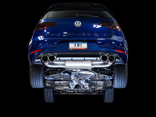 AWE SwitchPath™ Exhaust For MK7.5 Golf R - Chrome Silver 102mm Tips