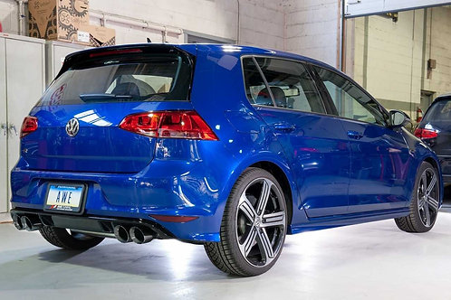 AWE Tuning SwitchPath Exhaust with Chrome Silver Tips, 102mm For Mk7 Golf R