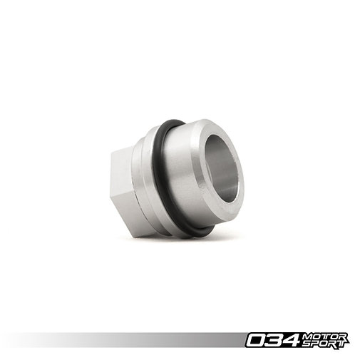 "BLOCK BREATHER ADAPTER, AUDI/VOLKSWAGEN 1.8T, BILLET ALUMINUM, THREADED 3/4"" NPT"