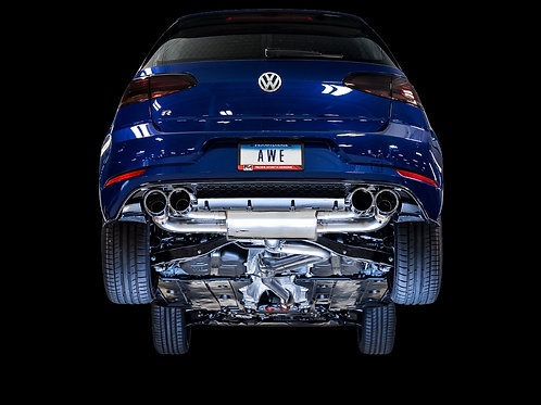 AWE SwitchPath™ Exhaust For MK7.5 Golf R - Diamond Black 102mm Tips