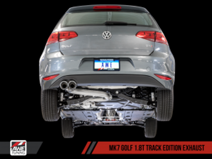 AWE Track Edition Exhaust for VW MK7 Golf 1.8T - Diamond Black Tips (90mm)