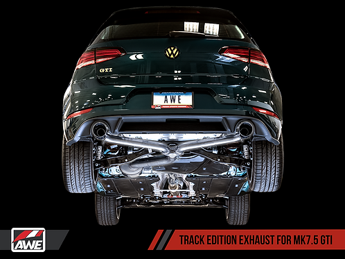 AWE Track Edition Exhaust For VW MK7.5 GTI - Diamond Black Tips