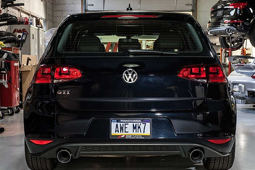 AWE Tuning Track Edition Exhaust - Chrome Silver Tips For VW MK7 GTI