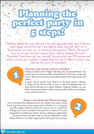 Top 5 Party tips! As seen on Sophia's Dairy: Summer Guide