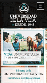 Comunidad y Educación website templates – Landing page universitaria
