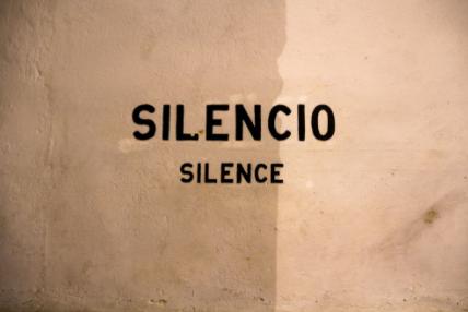 silence when writing