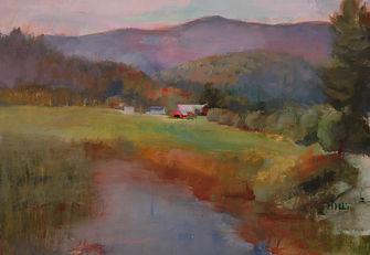 Hilary Mills Oil, Farm Scene