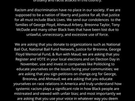 Black Lives Matter: A Message from D.E.B.S. Foundation