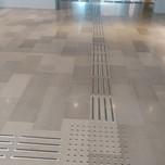 """סימן מוביל אלומיניום במילוי נגד החלקה עם צומת במסמרות תואמות. מוזיאון הטבע ת""""א"""