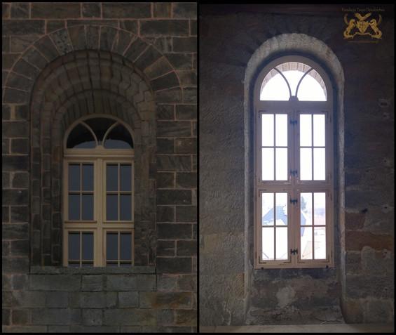 Das Fenster von draussen und innen