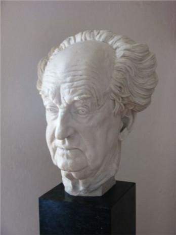 Gerhart Hauptmann: Büste im Museum Jauer
