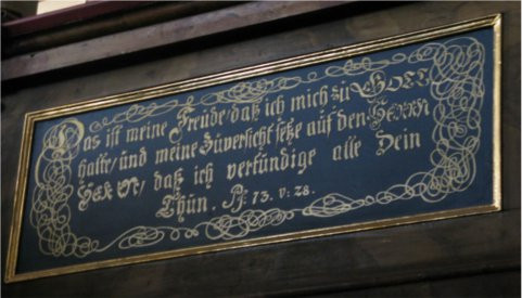 Bibelzitate in der Gnadenkirche