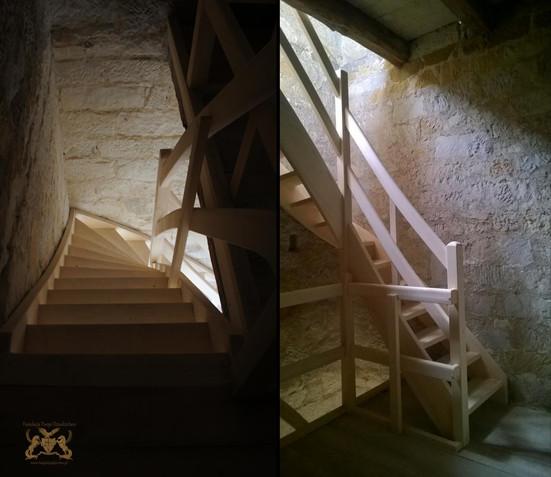 Treppe im Turm heute
