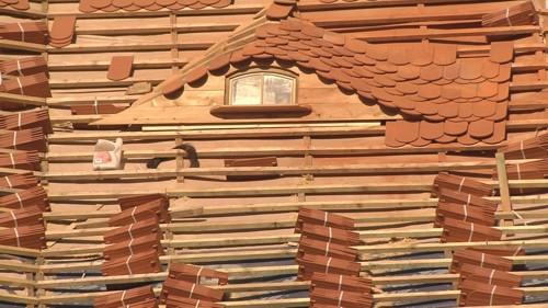 Reparatur des Daches