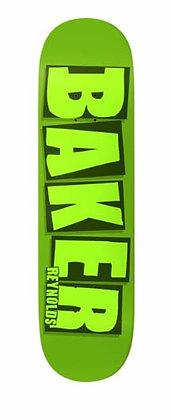 スケートボードbakerベイカー【reynolds brand name green】8.125