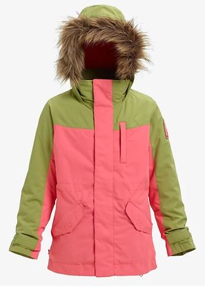 バートン キッズ【aubery jacket】LサイズGeorgia Peach / Mosstone