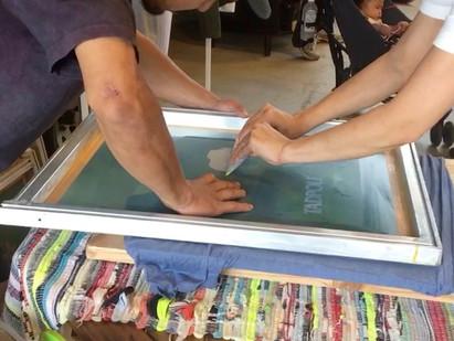 tadpoleシルクスクリーンプリント体験