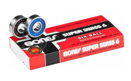 スケートボードベアリングbonesボーンズ【SUPER SWISS 6】