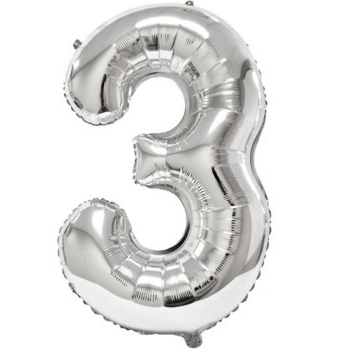Ballon chiffre argent - 35cm