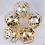 Thumbnail: Ballons confettis doré x5