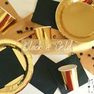 Thème BLACK & GOLD anniversaires enfants