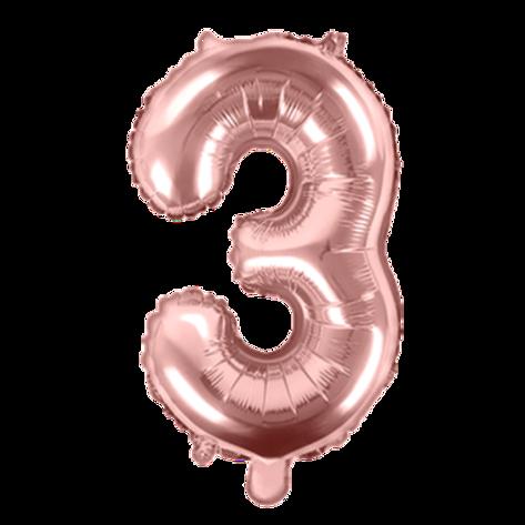 Ballon chiffre rose gold - 35cm