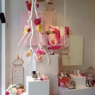 L'Art des Co - vitrines thème rose