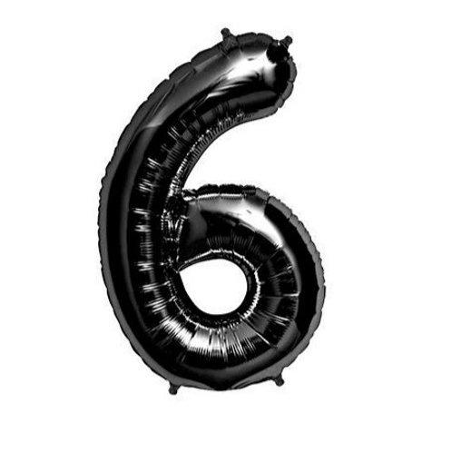 Ballon chiffre noir - 35cm