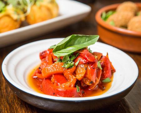 Marinated roasted capsicum
