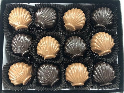 18 solid Chocolate  Shells