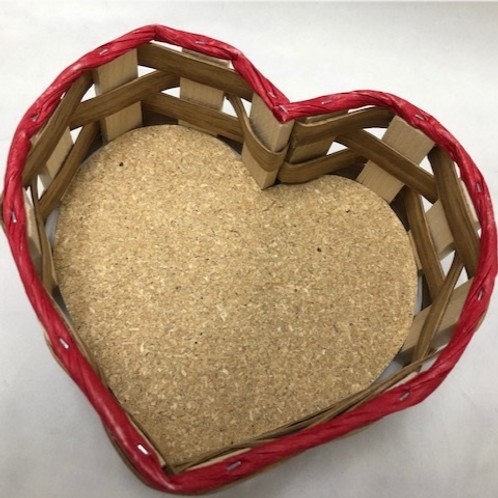 Heart Basket  5.5 wide by 2 inches deep
