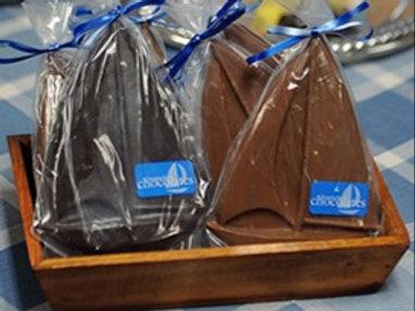 Dark Chocolate Sailboats