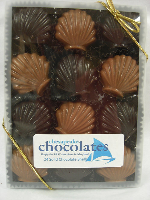 24 Solid Chocolate  Shells
