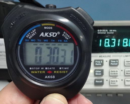 cea38295222 Calibração de cronômetro digital e analógico