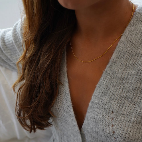 BEADED CHAIN - GOLD VERMEIL