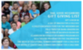 Smith Mountain Lake Good Neighbors Enrichment Program Giving List