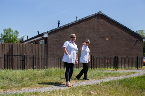 Two community nurses, Wigan.